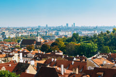 Aerial view of cityscape and St. Nicholas Church Royalty Free Stock Photo
