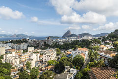 Aerial view of cityscape, the Sugarloaf mountain in Rio Stock Images
