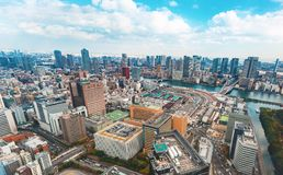 Aerial view of Tokyo, Japan Royalty Free Stock Images