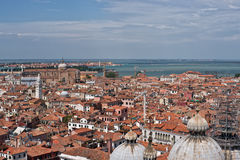 Aerial view on cityscape of Venice Stock Photos