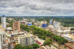 Aerial View of Ciudad del Este, Paraguay royalty free stock photos