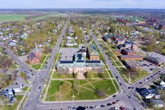 Aerial view of Clarkson University, Potsdam, NY, USA Stock Photos