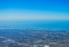 Aerial view of clearwater stock photography