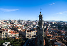 Aerial View of Clerigos Tower, Porto, Portugal Stock Image