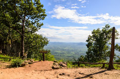 Aerial view on cliff, Chaiyaphum,Thailand Stock Photography