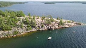 Cliff jumping, Killbear provincial park stock video footage