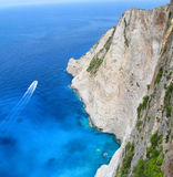 Aerial view cliffside Stock Photography