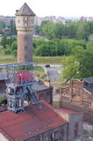 """Aerial view of a closed coal mine """"Katowice"""" in Poland Stock Photo"""