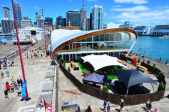 Aerial view of  The Cloud in Auckland waterfront, New Zealand Stock Photos