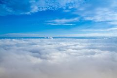 Aerial View of Clouds Stock Images