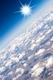 Aerial view of clouds Royalty Free Stock Images