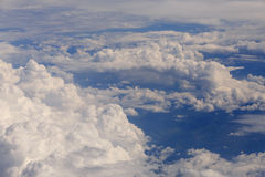 Aerial view on clouds Stock Images