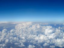 Aerial View of Clouds Stock Image