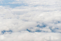 Aerial view of clouds with blue sky nature Royalty Free Stock Photo