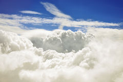 Aerial view of Clouds and blue sky. Royalty Free Stock Photography