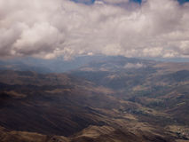 Aerial View - Clouds over Andes Mountains Stock Photos