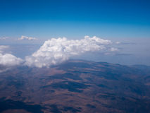 Aerial View - Clouds over Andes Mountains Stock Image