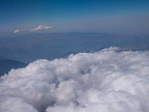 Aerial View - Clouds over Andes Mountains Royalty Free Stock Photography