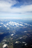 Aerial View of Cloud Covered Land Stock Photos