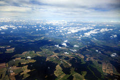 Aerial View of Clouds & Land Royalty Free Stock Photos
