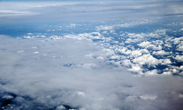 Aerial View of Cloud Covered Land Royalty Free Stock Photography