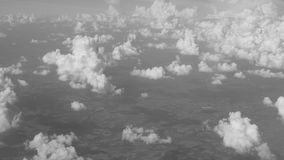 Clouds from plane stock video footage