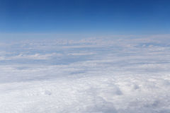 Aerial view on clouds Stock Photos