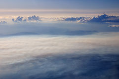 Aerial view of the cloudscape above Red Sea Stock Image