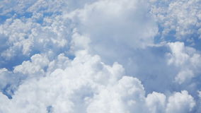 Aerial view of cloudscape stock video footage