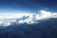 Aerial view Cloudscape Background Stock Images