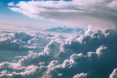 Aerial View of Cloudy Sky Royalty Free Stock Photos