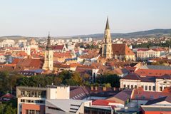 Aerial view of Cluj Royalty Free Stock Photography