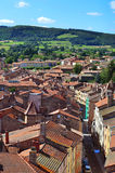 Aerial view  of Cluny city in  France , Burgundy Stock Images