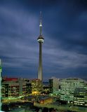 Aerial view of CN Tower Royalty Free Stock Images