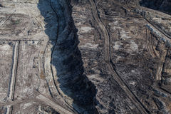Aerial view of coal mine Stock Photography