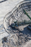 Aerial view of coal mine Stock Image