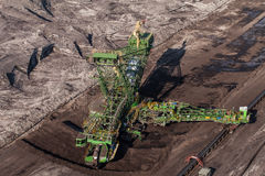 Aerial view of coal mine Royalty Free Stock Photo