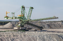 Aerial view of coal mine Royalty Free Stock Photos