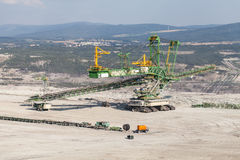 Aerial view of coal mine Royalty Free Stock Photography