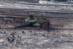 Aerial view of coal mine Royalty Free Stock Image