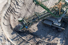 Aerial view of coal mine Stock Images