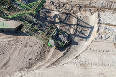 Aerial view of coal mine Royalty Free Stock Images