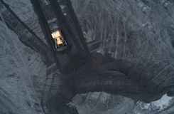 Aerial view of coal mine in Silesia Royalty Free Stock Image