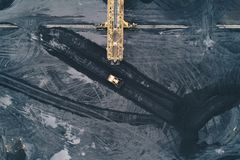 Aerial view of coal mine in Silesia Royalty Free Stock Photo
