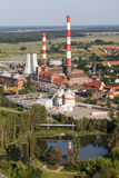 Aerial view of coal power plant Royalty Free Stock Images