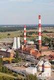 Aerial view of coal power plant Stock Image