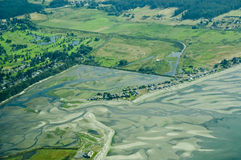 Aerial view of coast Royalty Free Stock Images