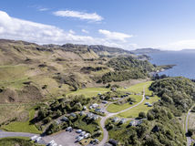Aerial view of the coast between Gallanach and Oban, Argyll Royalty Free Stock Image