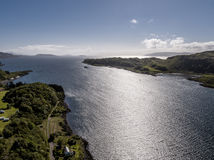 Aerial view of the coast between Gallanach and Oban, Argyll Stock Photo