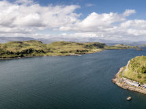 Aerial view of the coast between Gallanach and Oban, Argyll Stock Images